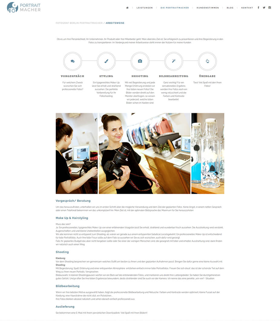 Webseite Fotograf: Portraitmacher
