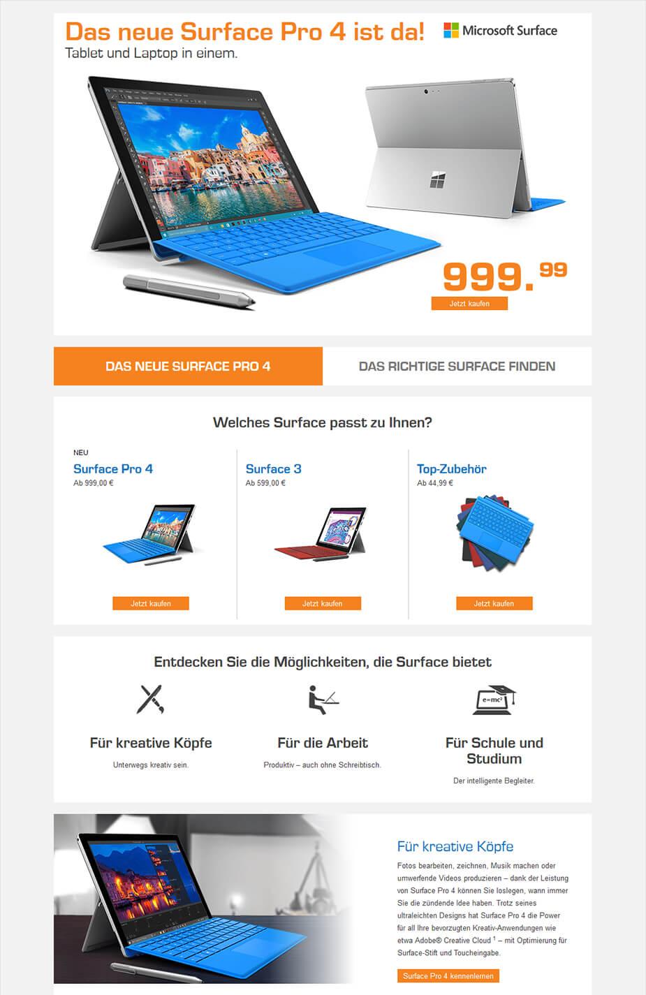 Webseite / Landingpage: Produktvorstellung