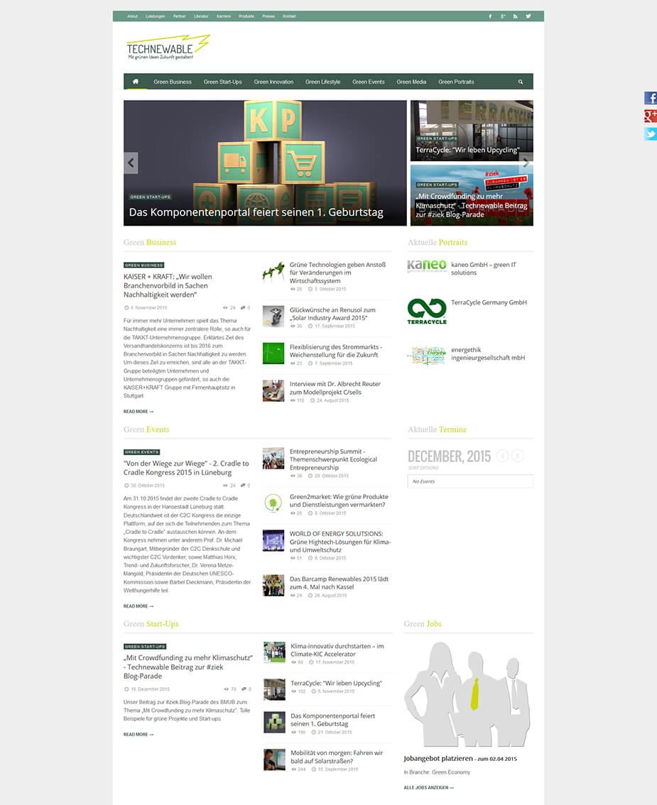 Webseite Firmenwebseite / Blog: Technewable